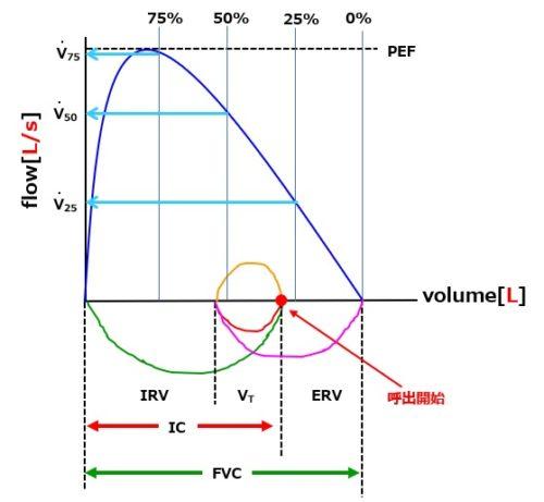 フローボリューム曲線