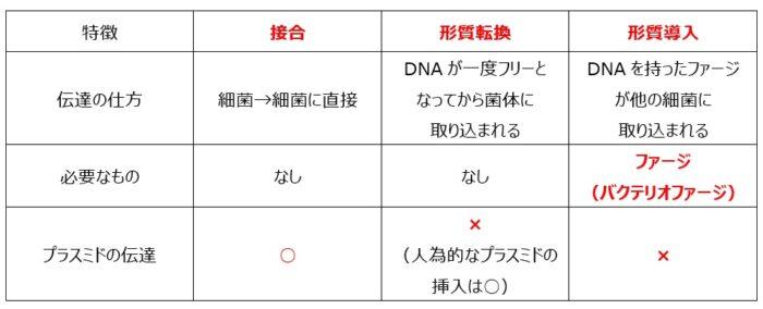 遺伝形質の伝達